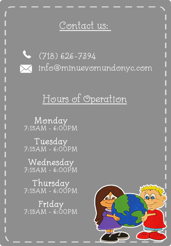 To contact us give us a call to 718 626 7324, schedules: Monday to Friday 7:15 am to 6:00 pm